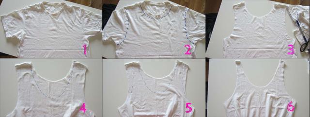Bag t-shirt: ritaglia le maniche e il collo come più ti piace