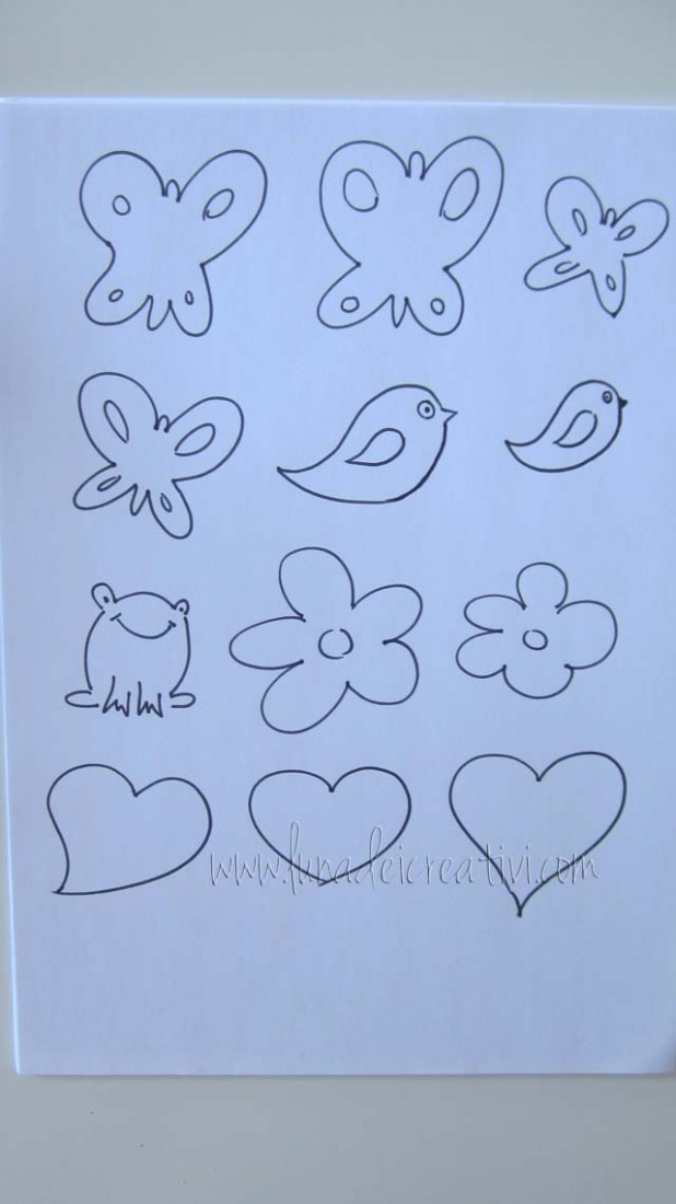Disegna su un foglio di carta dei soggetti facili da ritagliare
