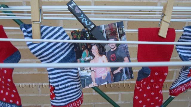 ...Possiamo usarla per pitturare delle mollette e lasciare dei romantici messaggi tra il bucato...