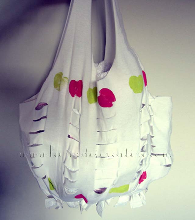 Bag t-shirt finita e decorata!