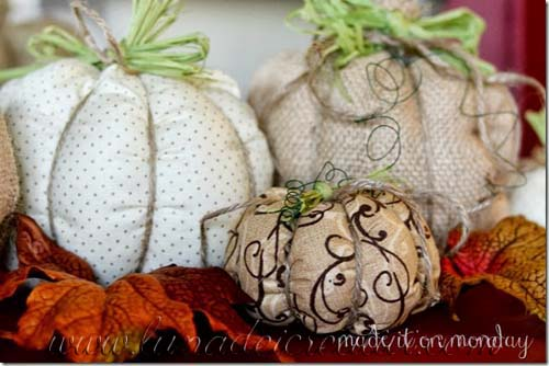 Zucche Imbottite realizzate in Stoffa con macchina da cucire
