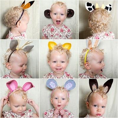 Cerchietti con vari tipi di orecchie di animali