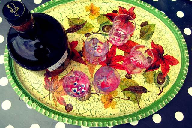 Bicchieri decorati con smalto