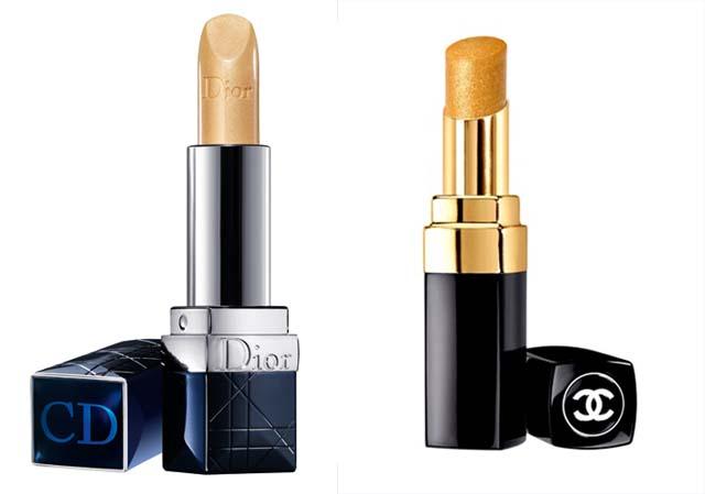 Rossetto color Oro di Dior e Chanel