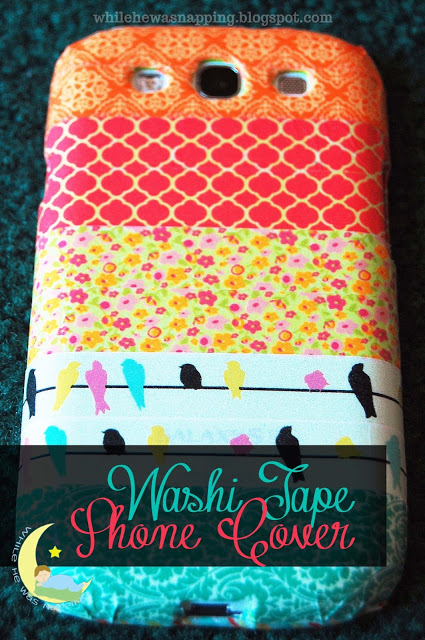 Washi Tape Phone Cover