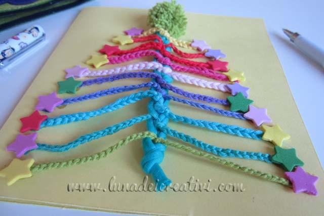 Biglietto d'auguri con albero di Natale a Crochet: carino no?