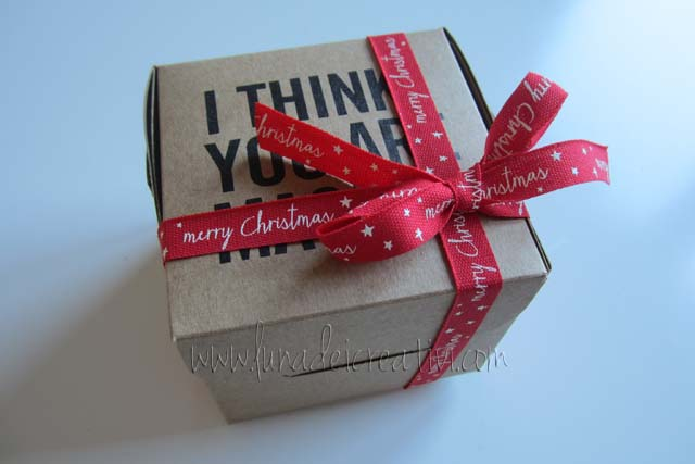 "Set di Scatole ""I Think You are Magic"" + Nastrino Rosso ""Marry Christmas"" + Christmas Kit ""Feltro Rosso"""