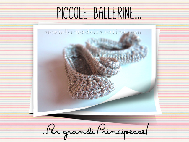 Ballerine dorate all'uncinetto
