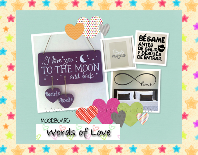 Moodboard Words of Love