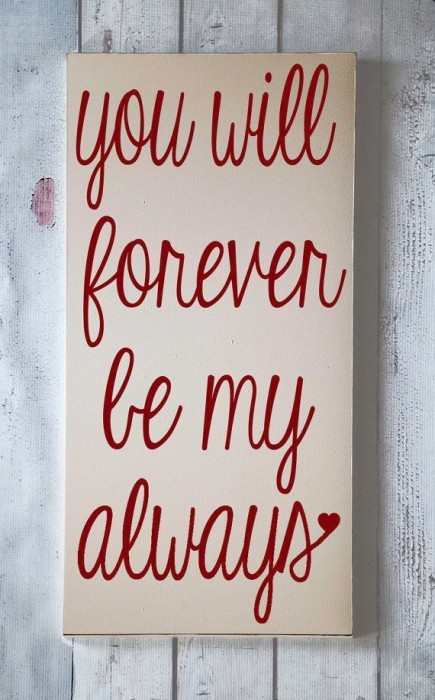 etsy - you will forever be my always