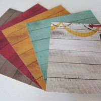 5 card colorate 6''x6''