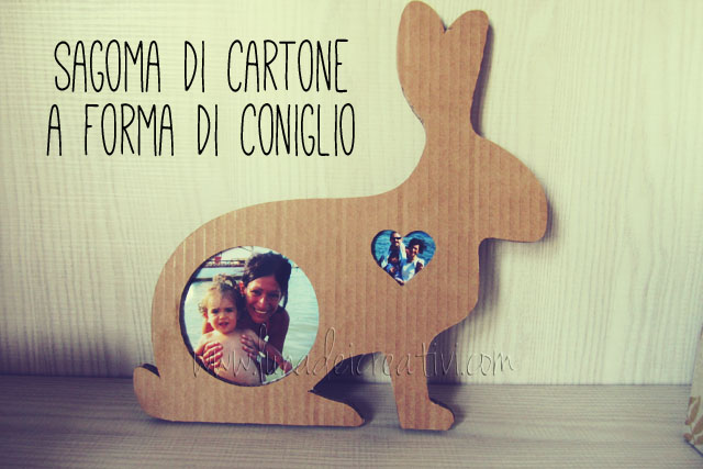 Decorazione in cartone con forma di coniglio (Rabbit-shaped cardboard box)