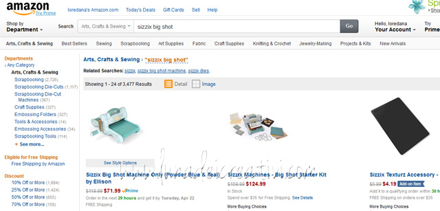 Sizzix su Amazon.com