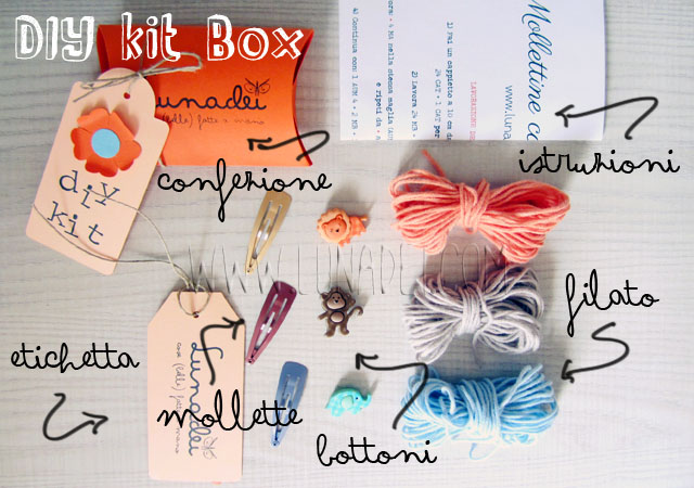 DIY Kit Box: Mollette con Rosa a Crochet e Bottoni