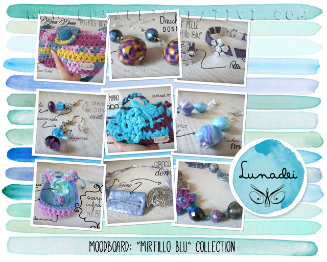 Moodboard Mirtillo Blu Collection by Lunadei