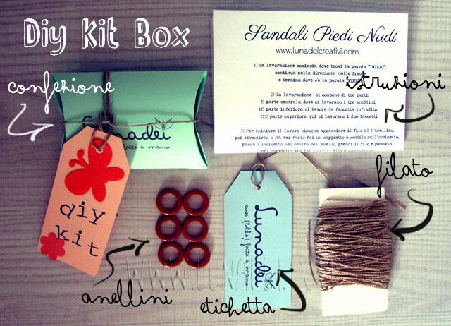 Diy Kit Box: Sandali Piedi Nudi - Componenti del Kit