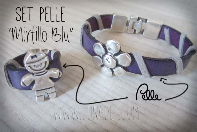 Set Pelle Mirtillo Blu
