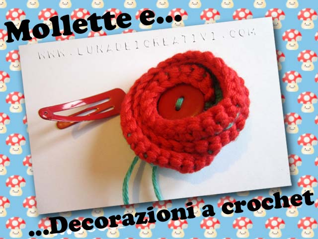 Come attaccare le decorazioni a crochet alle mollette
