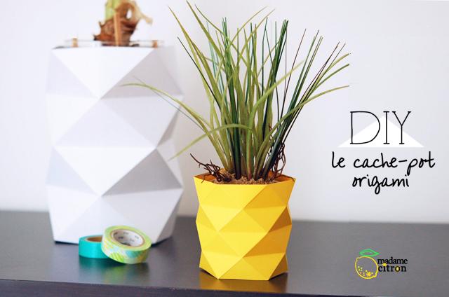 Portavasi origami di Madame Citron