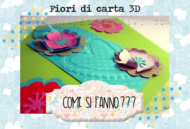 copertina fiori di carta 3D