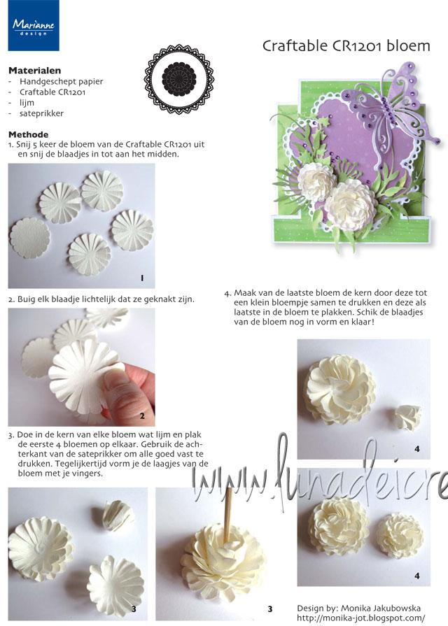 Fiore di Carta 3D - modello 3 (Fonte: www.mariannedesign.nl)