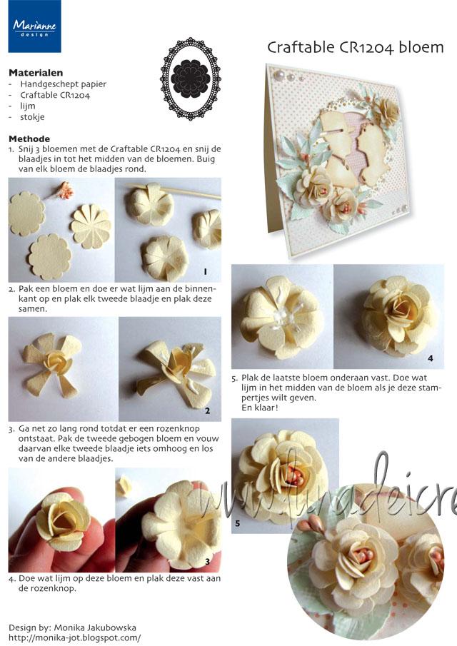 Fiore di Carta 3D - modello 4 (Fonte: www.mariannedesign.nl)