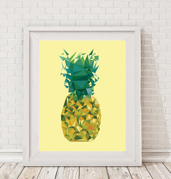 Stampa con ananas di PaperplanesPosters - Etsy