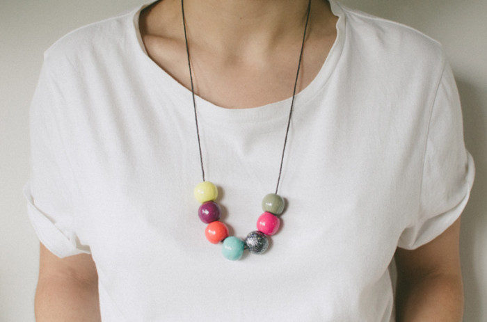 WOODEN BEAD NECKLACE by fawnmag
