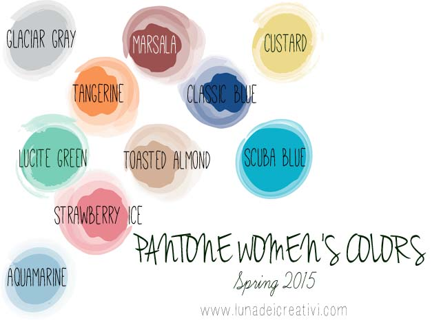 PANTONE Spring Colors 2015 women