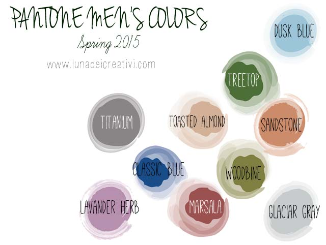 PANTONE Spring Colors 2015 men