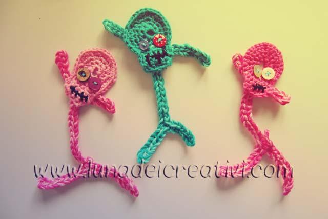 Spilla con Scheletro a Crochet