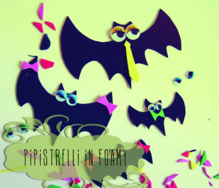 LUNAdei Creativi Magazine 2: pipistrelli in foamy