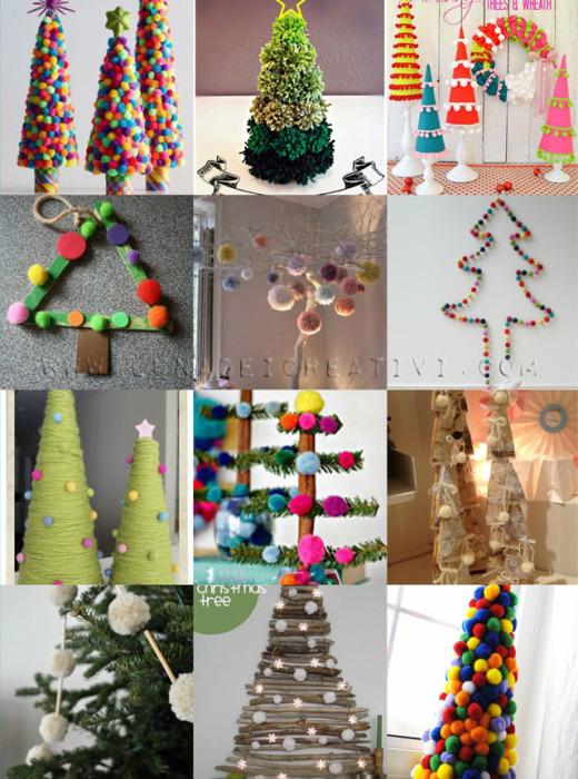 12 Pom Pom Christmas Tree