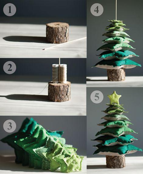 tutorial per fare un albero di natale in feltro