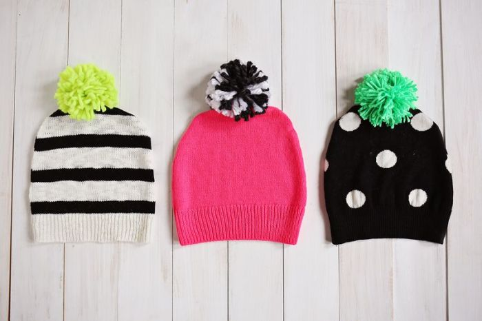 Pom-Pom Hat by abm (Have a Sweater? Make a Pom-Pom Hat!)