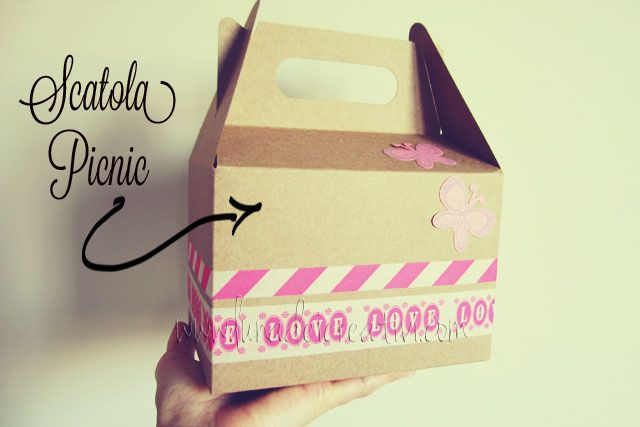 scatola pic nic con washi tape