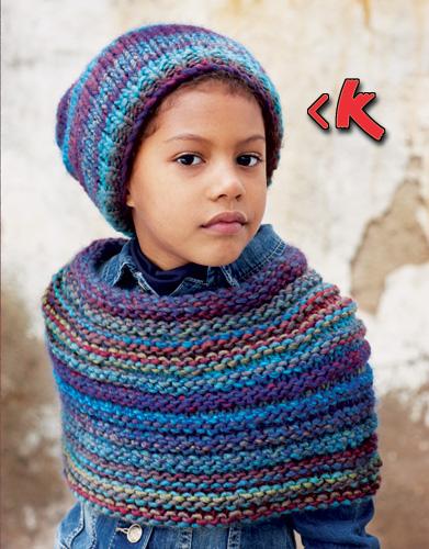 Cappello e sciarpa da bambino (fonte: www.katia.com)