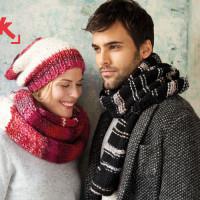 Cappello e sciarpa da donna e da uomo (fonte: www.katia.com)