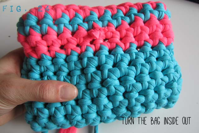 Fig 24  - Crochet Handbag