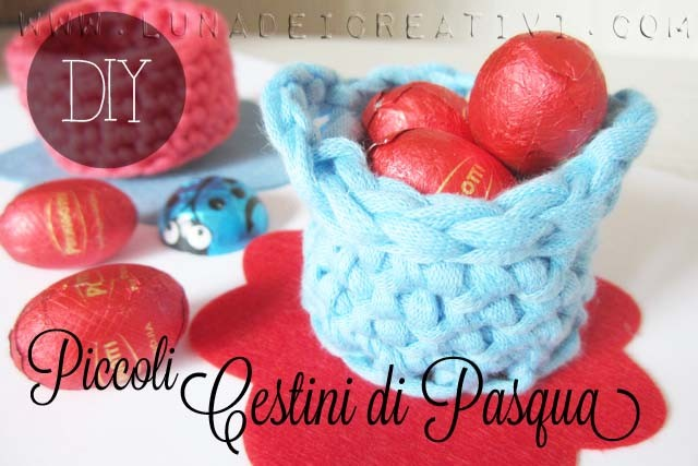 cestini di Pasqua all'uncinetto