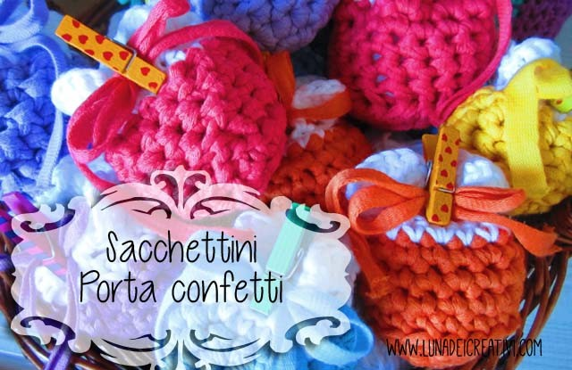 Bomboniera Alluncinetto Schema Sacchetto Porta Confetti Lunadei