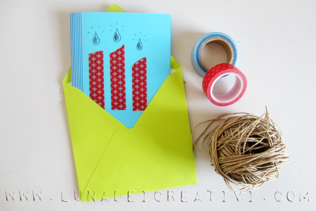 biglietto d'auguri con big shot e washi tape2_2