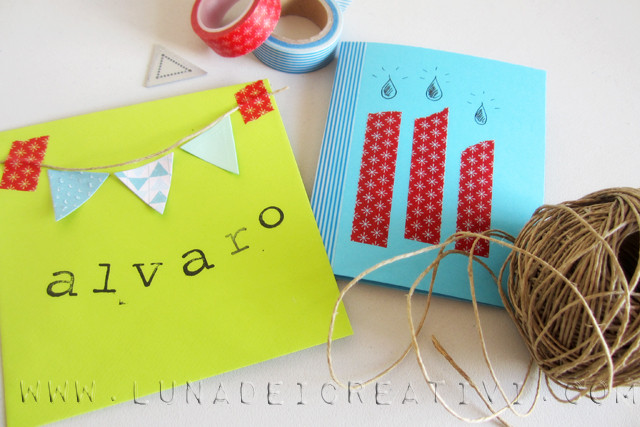 biglietto d'auguri con big shot e washi tape4_2