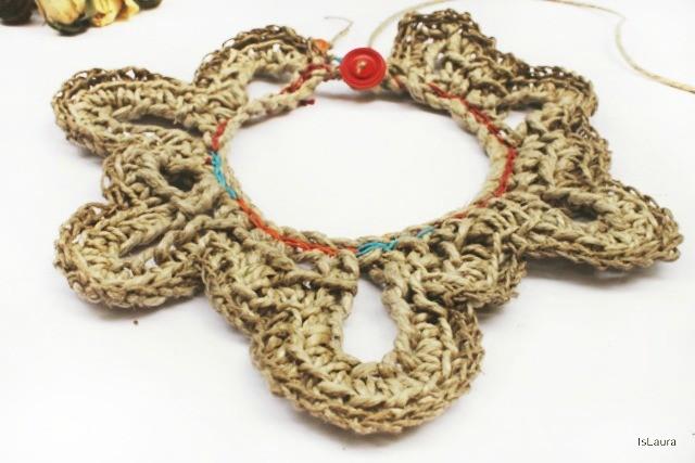 Come realizzare una collana a crochet con lo spago
