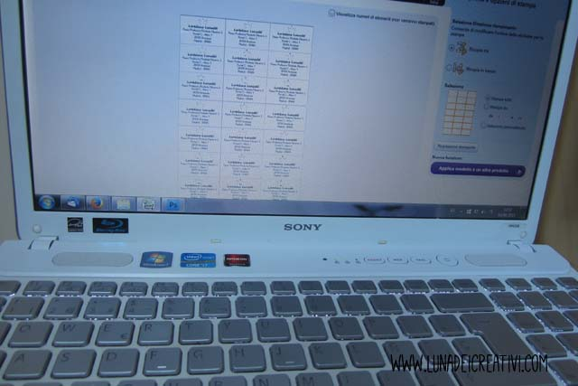 Crea le tue etichette con il programma Tico Print