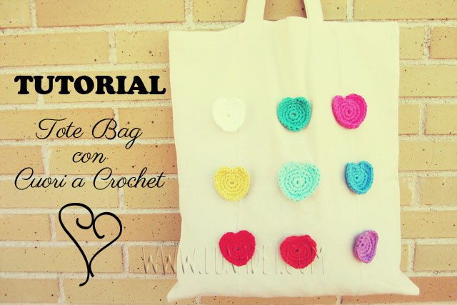 tutorial Tote Bag con Cuori a Crochet