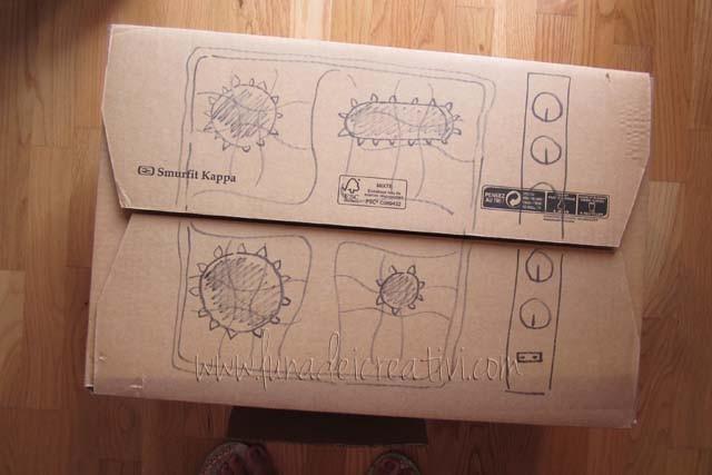 Fig. 2 - Disegna sulla scatola fornelli e manopole
