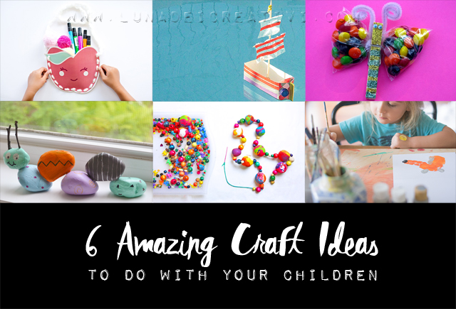 Manualità per Bimbi: 6 craft ideas for children copertina