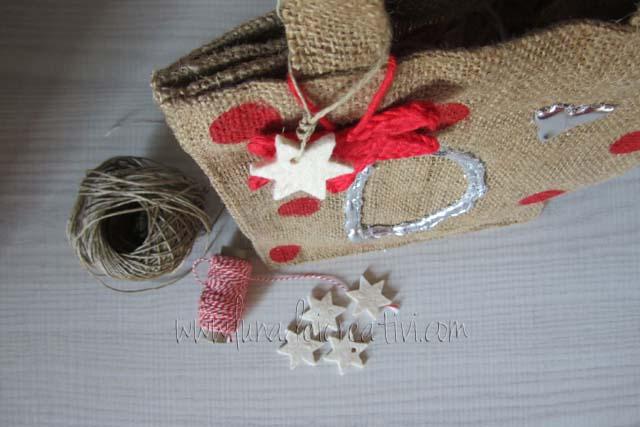 borsa persolizzata con foglia d'oro: perfetta per Natale!
