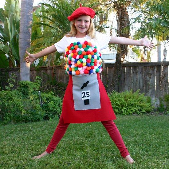 costumi per halloween bubble gum machine